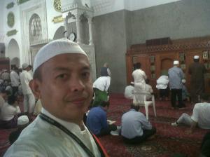 Hery Azwan di Mesjid Quba