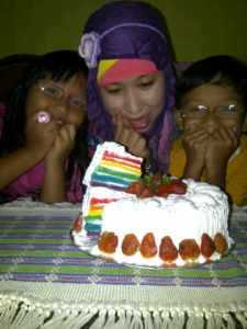 Rainbow Cake Indonesia