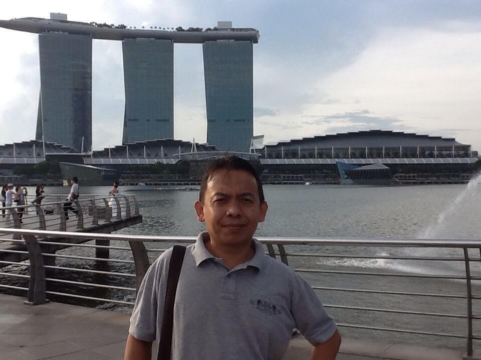 Hery Azwan di Marina Bay Sanda